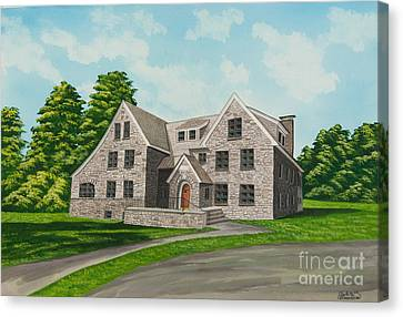Bunch House Canvas Print by Charlotte Blanchard