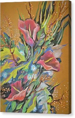 Bunch Of Flowers Canvas Print by Olena Chernyshova