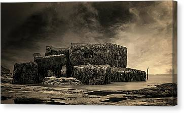 Industrial Background Canvas Print - Bunker by Martin Newman