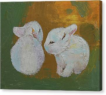 Baby Rabbits Canvas Print by Michael Creese