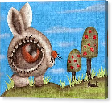 Bunny Bolita Canvas Print by  Abril Andrade Griffith