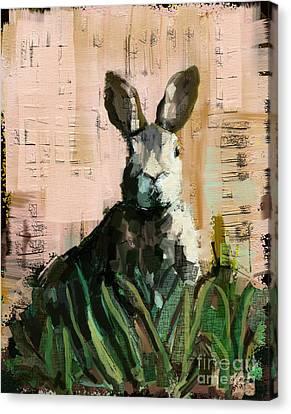 Bunny Canvas Print by Carrie Joy Byrnes