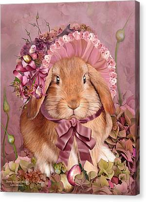 Bunny In Easter Bonnet Canvas Print
