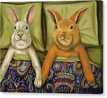 Bunny Love Canvas Print by Leah Saulnier The Painting Maniac