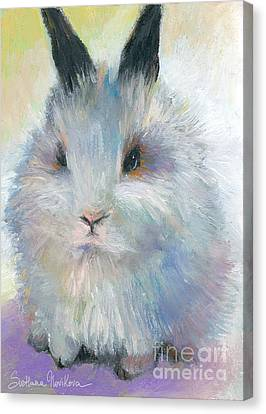 Bunny Rabbit Painting Canvas Print by Svetlana Novikova