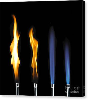 Bunsen Burner Flame Sequence Canvas Print by Spl