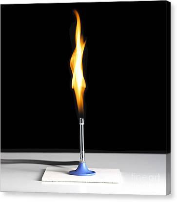 Bunsen Burner Flame Canvas Print by Spl