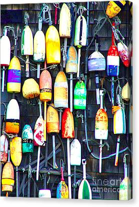Canvas Print featuring the photograph Buoy Art by Bill Holkham