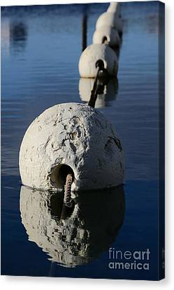 Canvas Print featuring the photograph Buoy In Detail by Stephen Mitchell