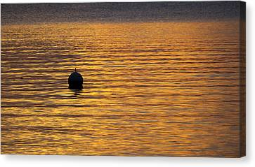 Buoy Sunset - Madison - Wisconsin Canvas Print by Steven Ralser