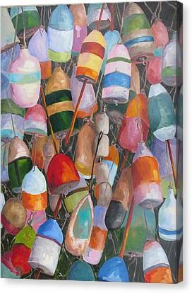 Buoys 5 Canvas Print by Susan Richardson
