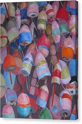 Buoys 6 Canvas Print by Susan Richardson