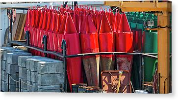 Buoys For The Mississippi Canvas Print by Steven Ralser