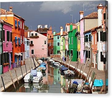 Burano Colours Canvas Print by Paul Cowan