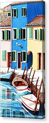 Burano, Italy Canvas Print by Mary Grden's Baywood Gallery