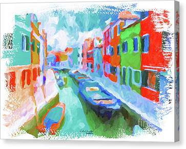 Burano, Venice, Italy Canvas Print by Chris Armytage