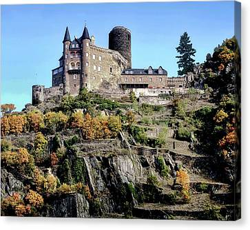 Canvas Print featuring the photograph Burg Katz - Rhine Gorge by Jim Hill