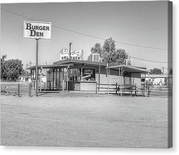 Burger Den,orig Del Taco Canvas Print by Douglas Settle