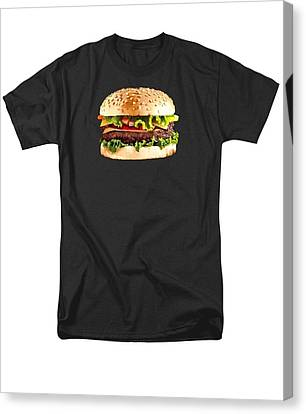 Burger Sndwich Hamburger Canvas Print by T Shirts R Us -