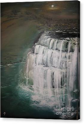 Burgess Falls Canvas Print by Delnora Reed