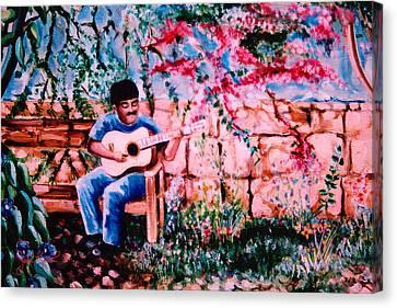 Burgundy Siesta Canvas Print by John Keaton