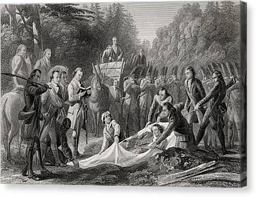 Burial Of General Edward Braddock In Canvas Print by Vintage Design Pics