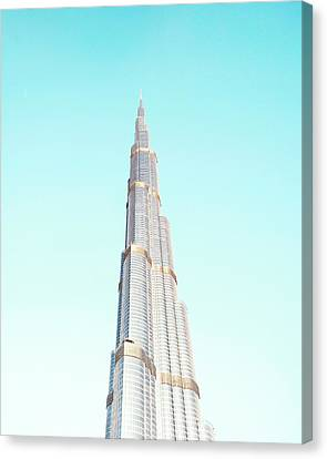 Burj Khalifa Canvas Print by Happy Home Artistry
