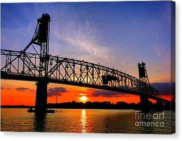 Burlington Bristol Bridge Sunset  Canvas Print by Olivier Le Queinec