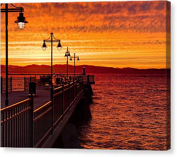 Burlington Sunset Canvas Print