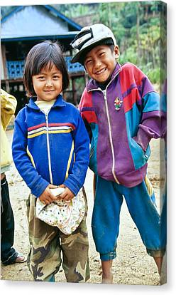 Burmese Brother & Sister Canvas Print by Inga Spence