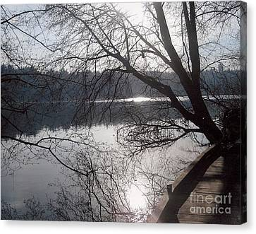 Canvas Print featuring the photograph Burnaby Walk by Kim Prowse