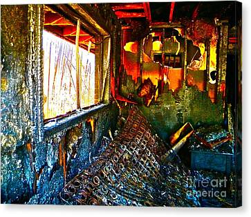 Burned Canvas Print by Chuck Taylor