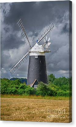 Burnham Overy Mill Canvas Print by Steev Stamford