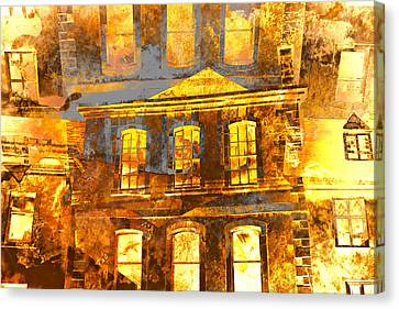 Burning Buildings Canvas Print by Tom Gowanlock