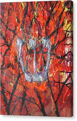 Canvas Print featuring the painting Burning Bush by Mordecai Colodner