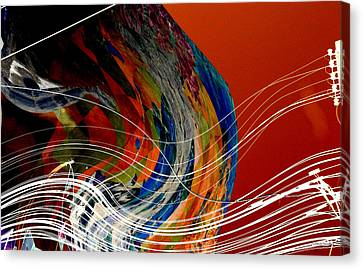 Burning City Sunset Canvas Print by Thibault Toussaint