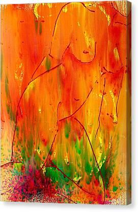 Burning Desire Canvas Print by Nicole Lee