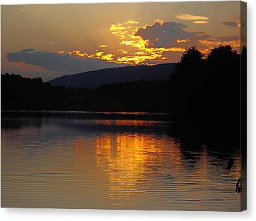 Canvas Print featuring the photograph Burning Gold by Vilas Malankar