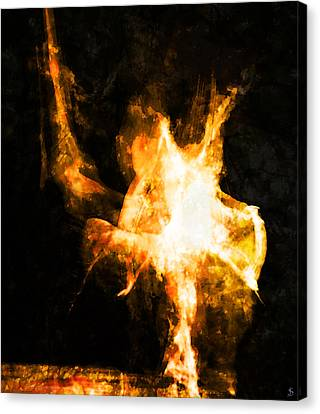 Burning Man Canvas Print by Ken Walker