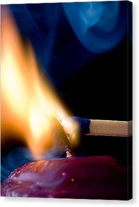 Flickering Light Canvas Print - Burning Passion by Jim DeLillo