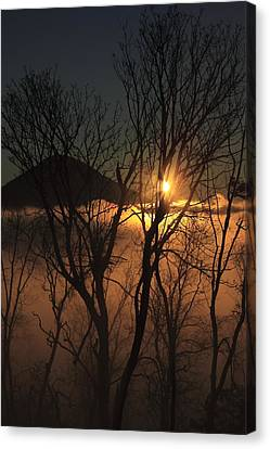 Burning Through The Fog Canvas Print by Naman Imagery