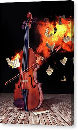 Burning With Music Canvas Print