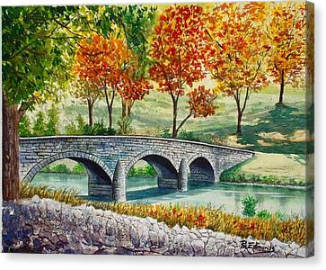 Burnside Bridge, Battle Of Antietam Canvas Print by Raymond Edmonds