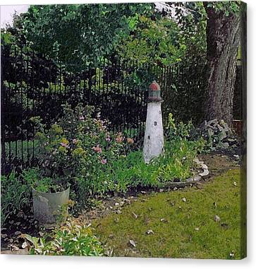 Burnside Garden Lighthouse Canvas Print by Cedric Hampton