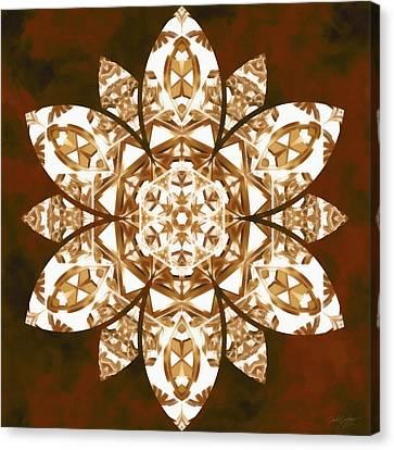 Canvas Print featuring the digital art Burnt Geomatrix by Derek Gedney