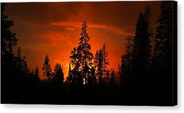 Burnt Orange Sunset Canvas Print by David Andersen