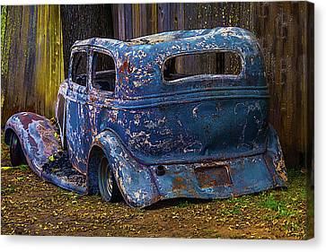 Burnt Out Classic Car Canvas Print by Garry Gay