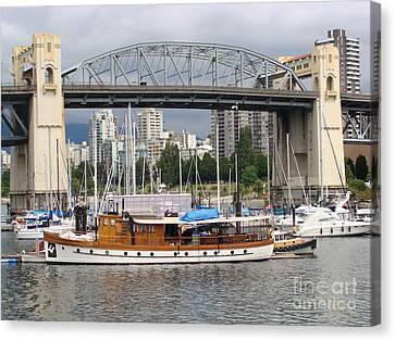 Burrard Street Bridge, Vancouver Canvas Print by Rod Jellison