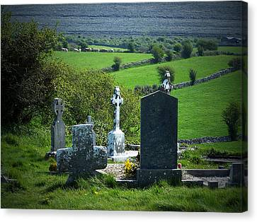 Burren Crosses County Clare Ireland Canvas Print by Teresa Mucha