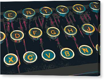 Typewriter Keys Canvas Print - Burroughs by Shay Culligan